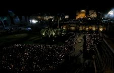 Via Crucis (Way of the Cross) torchlight procession, Rome, Italy - 19 Apr 2019