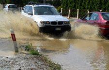 local floods after heavy rains, Tyczyn, Poland - 19 May 2019