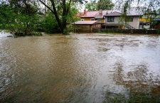 Flood in Dabrowska Tarnowska, Dabrowa Tarnowska, Poland - 22 May 2019