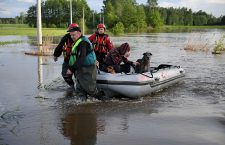 Evacuation due flooding in Wadowice Gorne, Poland - 22 May 2019