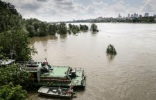 Floods in Vistula Boulevards area in Warsaw, Poland - 28 May 2019