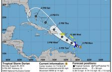Tropical Storm Dorian projected to become hurricane, -, - - 26 Aug 2019