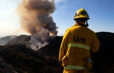 Getty fire in Los Angeles, USA - 28 Oct 2019